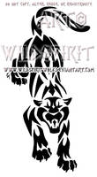 Aggressive Panther Tribal Design