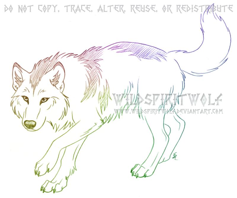 Mawga Shewolf Sketch Commission by WildSpiritWolf