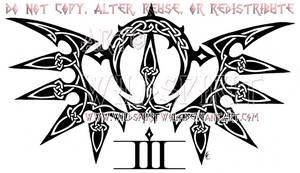 Celtic Knotwork Tribal Wings Design