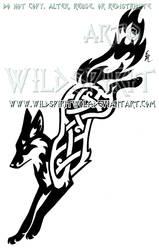 Knotwork Leaping Fox Design by WildSpiritWolf
