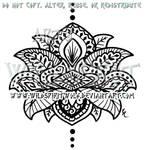 Henna Style Lotus Design