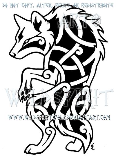 Stylized Lycan Knotwork Design by WildSpiritWolf