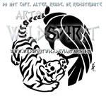 Raven And Tiger Yin Yang Design