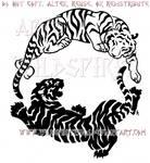 Peace And Fury Yin Yang Tiger Design