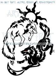 Tribal Hati + Skoll Yin Yang Design