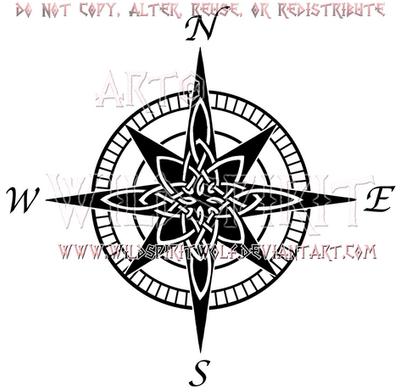 Celtic Compass Rose Design by WildSpiritWolf