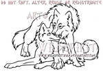 Wolf Lovers Lineart Commission