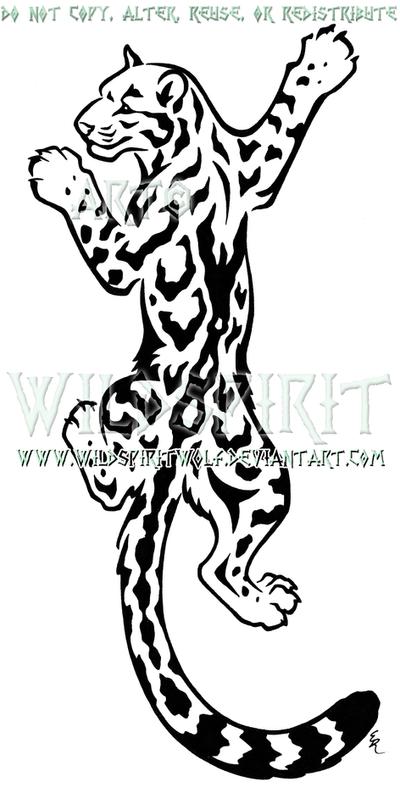 Climbing Clouded Leopard Design by WildSpiritWolf