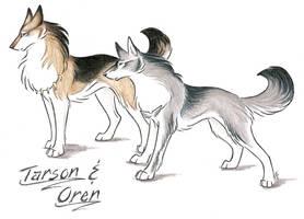 Tarson And Oren by WildSpiritWolf