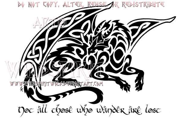 Smaug Celtic Tribal Dragon Design By Wildspiritwolf On