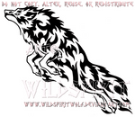 Rebellious Leaping Flame Wolf Design