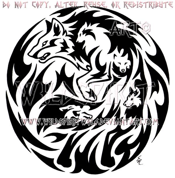 Emotion Wolf Flame Medallion Design by WildSpiritWolf