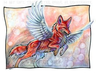Winged Coyote - Alchemission by WildSpiritWolf