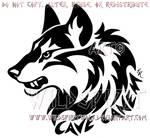 Cave Canem Fierce Wolf Head Design