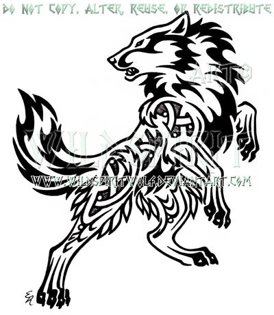 Bold Nordic Wolf Design by WildSpiritWolf