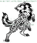 Bold Nordic Wolf Design