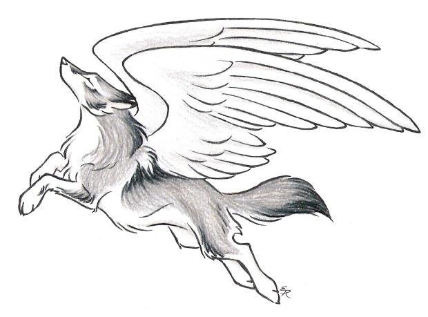 Oren Gets His Wingsby Wild Spirit Wolf