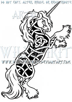 Gypsy Vanner Unicorn Knotwork Design