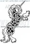 Gypsy Vanner Unicorn Knotwork Design by WildSpiritWolf