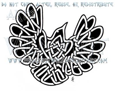 Celtic Flying Wren Design by WildSpiritWolf