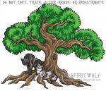 Alpha Wolf Pair Beneath Tree Of Life - Commission