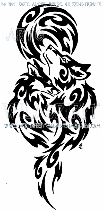 wolf and fox full moon tribal design by wildspiritwolf on deviantart. Black Bedroom Furniture Sets. Home Design Ideas