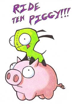 Gir Rides The Pig