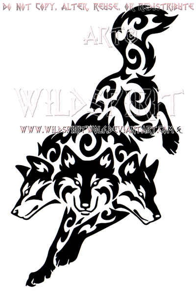 Tribal Cerberus Design by WildSpiritWolf