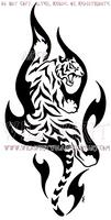Climbing Flame Tiger Design