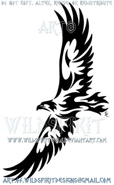 Soaring Eagle Tribal Design by WildSpiritWolf