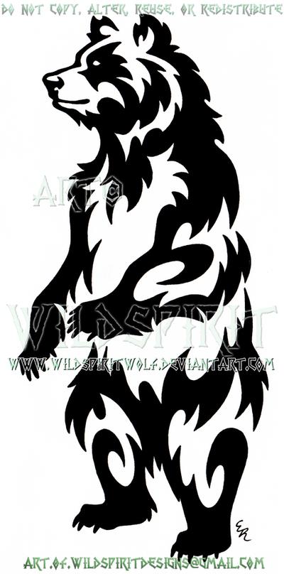 Standing Bear Tribal Design by WildSpiritWolf