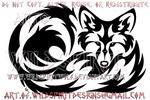 Curled Fox Tribal Design