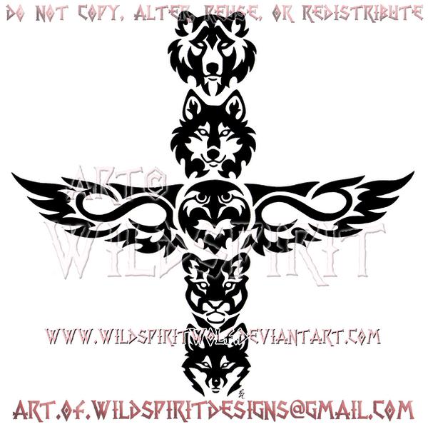 Metis Five Animal Totem Tribal Design by WildSpiritWolf