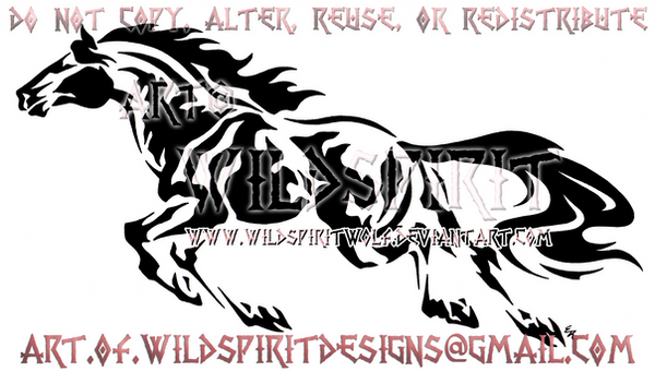 abstract galloping mustang design by wildspiritwolf on deviantart. Black Bedroom Furniture Sets. Home Design Ideas
