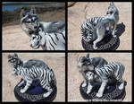 Wolf And White Tiger - Celtic Wedding Topper