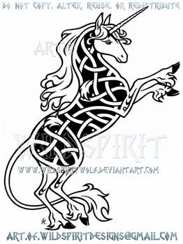Last Unicorn Knotwork Design