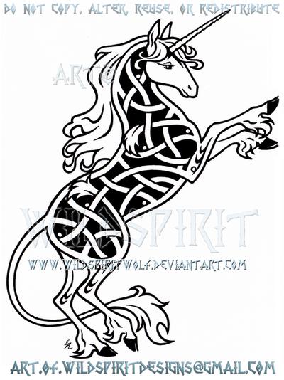 Last Unicorn Knotwork Design by WildSpiritWolf