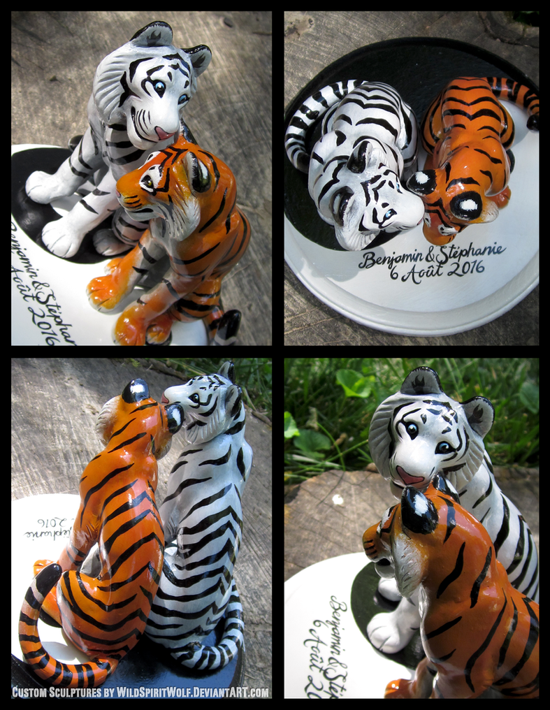 Yin Yang Tigers - Wedding Topper Commission by WildSpiritWolf