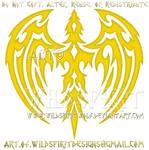 Golden Phoenix Tribal Design