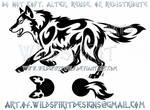 Running Wolf Semicolon Project Tribal Design
