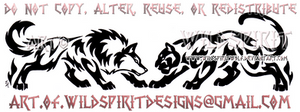 Wolf And Panther - Horizontal Design