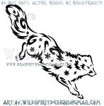 Arctic Fox Snowflake Tribal Design