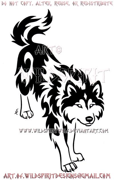 focused border collie wolf tribal design by wildspiritwolf on deviantart. Black Bedroom Furniture Sets. Home Design Ideas