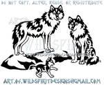 Proud Wolf Family Tribal Design