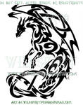 Celtic Knot Tribal Dragon Design