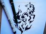 Flame Fox Tribal Design