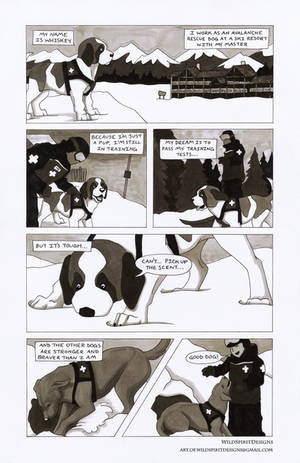 Whiskey The Avalanche Dog Comic - Page 1