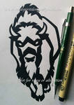 American Bison Tribal Design