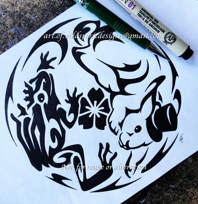 Frog Prince + Magic Bunny - Yin Yang Design by WildSpiritWolf