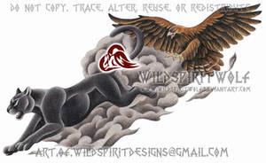 Black Panther + Eagle - Color Cover Up Design